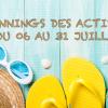 Vacances d'été  : Découvrez le planning des activités