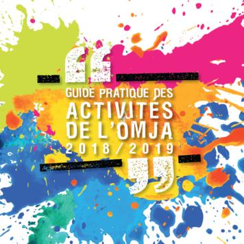 Guide des activités pour l'année 2018/2019