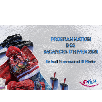 Programmation : Vacances d'hiver 2020